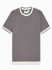Short Sleeve Pique Stripe Jumper