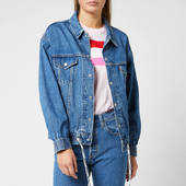 Levi's Women's Dad Sport Trucker Jacket - Double Cross - Xs - Blue