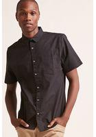 Polka Dot Short-sleeve Cotton Shirt
