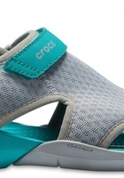 Crocs Sandal Women Light Grey Swiftwater Mesh S