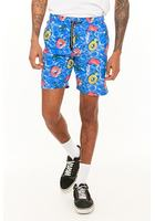 Drill Clothing Pool Print Swim Trunks