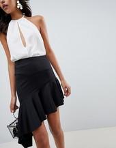 Minifalda De Neopreno Con Bajo Asimétrico Extremo De Asos Design