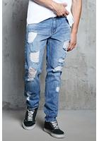 Destroyed Faded Jeans