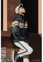 Multi-stripe Bomber Jacket