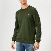 Lacoste Men's Classic Cotton Crew Knit Jumper - Khaki - 3/s - Green