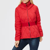 Armani Exchange Women's Short Quilted Hooded Coat - Bloody Mary - Xs - Red