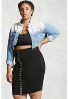 Plus Size Hook & Eye Pencil Skirt