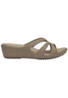 Crocs Wedge Women Mushroom / Cobblestone Sanrah Strappy