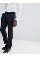 Pantalones De Traje De Corte Slim En Azul Marino De 100% Lana De Asos Wedding