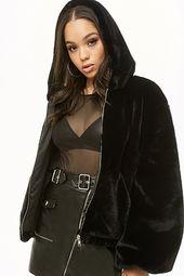 Faux Fur Zip-front Jacket