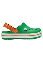 Crocs Clog Unisex Grass Green/white/blazing Orange Crocband™