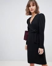 Minivestido Negro Cruzado De Vero Moda