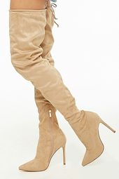 Faux Suede Over-the-knee Boots