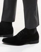 Zapatos Oxford Negros De Antelina De Asos