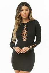 Crisscross Cutout Mini Dress