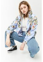 Tropical Print Windbreaker