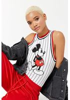Striped Mickey Mouse Graphic Bodysuit