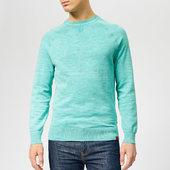 Superdry Men's Garment Dye L.a Crew Neck Jumper - Montrose Green - S - Green