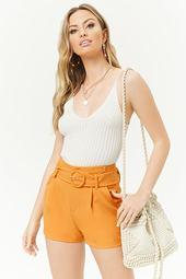 Belted High-rise Shorts