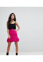 Minifalda Abullonada De Talle Alta De Asos Petite