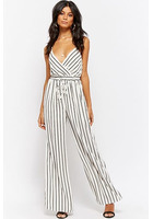 Wide-leg Striped Jumpsuit