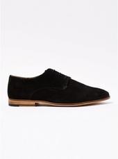 Black Suede 'nova' Derby Shoes