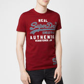 Superdry Men's Vintage Authentic Duo T-shirt - Red Hook Grit - M - Red