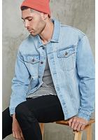 Raw-hem Denim Jacket