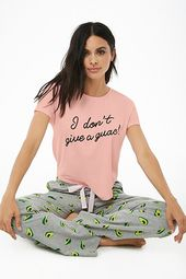 I Don't Give A Guac Graphic Pj Set