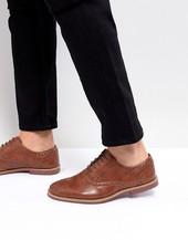 Zapatos Oxford De Cuero Sintético Tostado Con Suela En Contraste De Asos