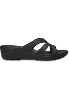Crocs Wedge Women Black Sanrah Strappy