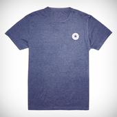 Camiseta Con Parche A La Izquierda Del Pecho Jaspeada Para Hombre