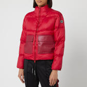 Armani Exchange Women's Short Red Puffa Coat - Red - M - Red