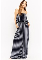 Striped Flounce Halter Jumpsuit