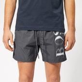 Boss Men's Octopus Swim Shorts - Charcoal - S - Grey