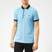 Boss Men's Paule 4 Placket Logo Polo Shirt - Sky - S - Blue