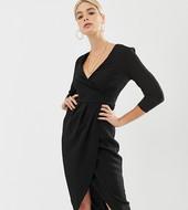 Vestido Midi Con Falda Cruzada De Asos Design Tall