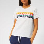 Superdry Women's Rainbow Graphic T-shirt - Ice Marl - Xs - White