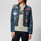 Superdry Women's Girlfriend Jacket - Tide Blue - Uk 12 - Blue