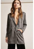 Marled Knit Longline Blazer