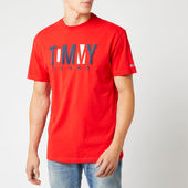 Tommy Jeans Men's Contrast Logo T-shirt - Flame Scarlet - S - Red