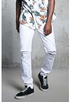 Slim-fit Ripped-knee Jeans
