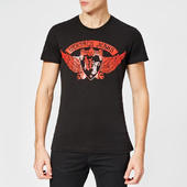 Versace Jeans Men's Tiger Logo T-shirt - Black - Xl - Black