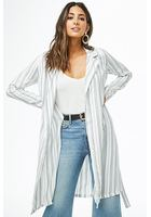 Dash-striped Duster Coat