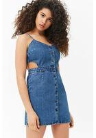 Cutout Denim Dress