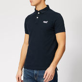 Superdry Men's Classic Pique Polo Shirt - Eclipse Navy - S