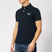 Superdry Men's Classic Pique Polo Shirt - Eclipse Navy - S - Navy