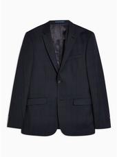 Premium Navy Check Blazer