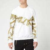 Versace Jeans Men's Long Sleeve Printed Top - Bianco Ottico - M - White