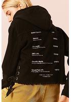 Latte Graphic Denim Jacket